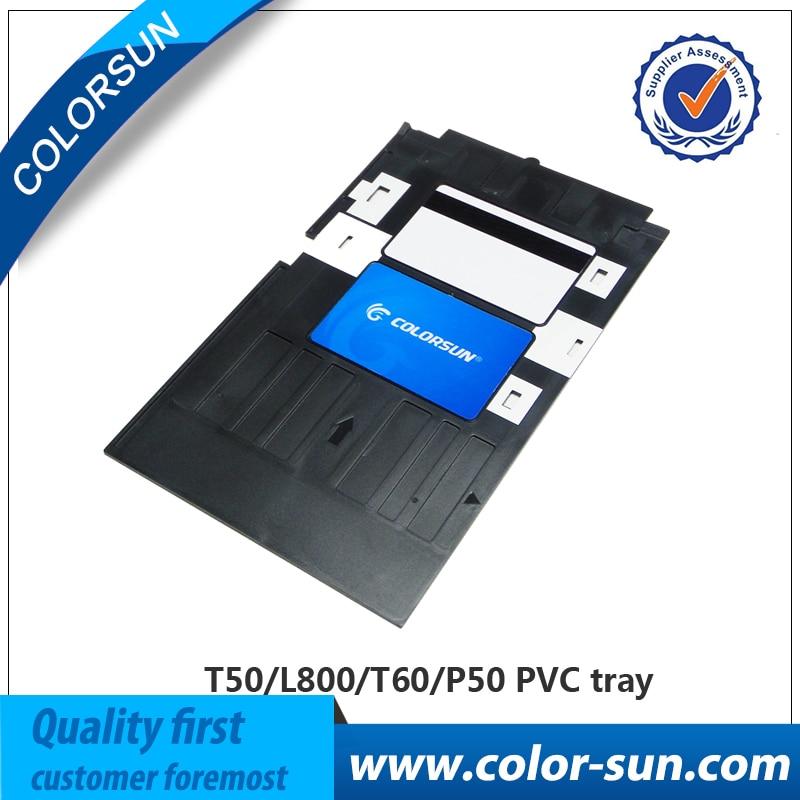 Printer Supplies Pvc Id Card Tray Plastic Card Printing Tray For Epson R260 R265 R270 R280 R290 R380 R390 Rx680 T50 T60 A50 P50 L800 L801 R330 High Safety