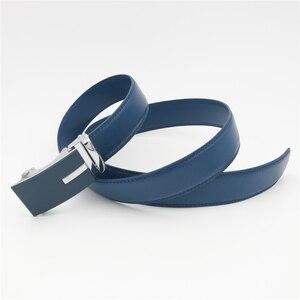 Image 4 - WESTERN AUSPICIOUS Genuine Leather Belt Men Blue Strap Automatic Male Belts Super Cinturon Hombre