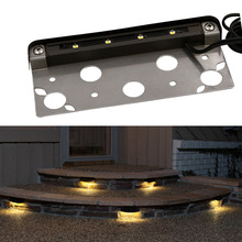 12PCS 12V IP65 Low voltage Outdoor Waterproof LED Deck Step Stairs light Exterior Floor terrace lighting Retaining wall Lamp