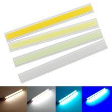 allcob manufacturer LED COB Strip Light Source 12V DC 4W 140mmx15mm Warm White Cool Blue FLIP Chip for DIY daytime Car light