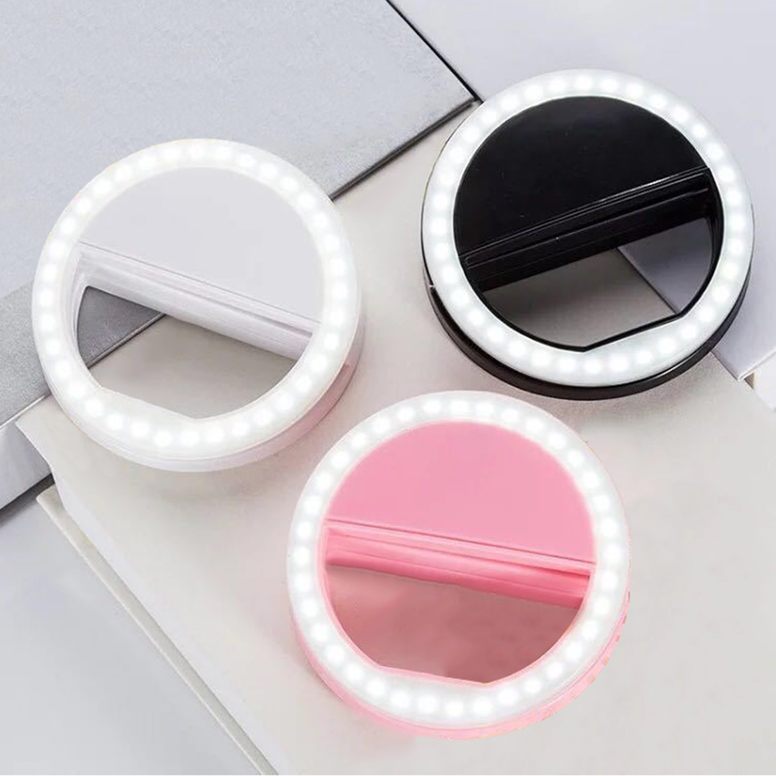 New Brand Portable Selfie Ring Flash Led Light Lamp Mobile Phone Led Selfie Lamp Ring Flash For Iphone Samsung(China)