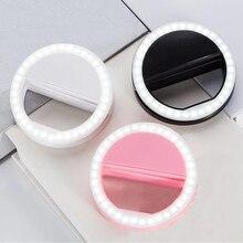 Бренд, портативная селфи кольцевой вспышка, светодиодный светильник, лампа для мобильного телефона, светодиодная лампа для селфи, Кольцевая вспышка для Iphone, samsung