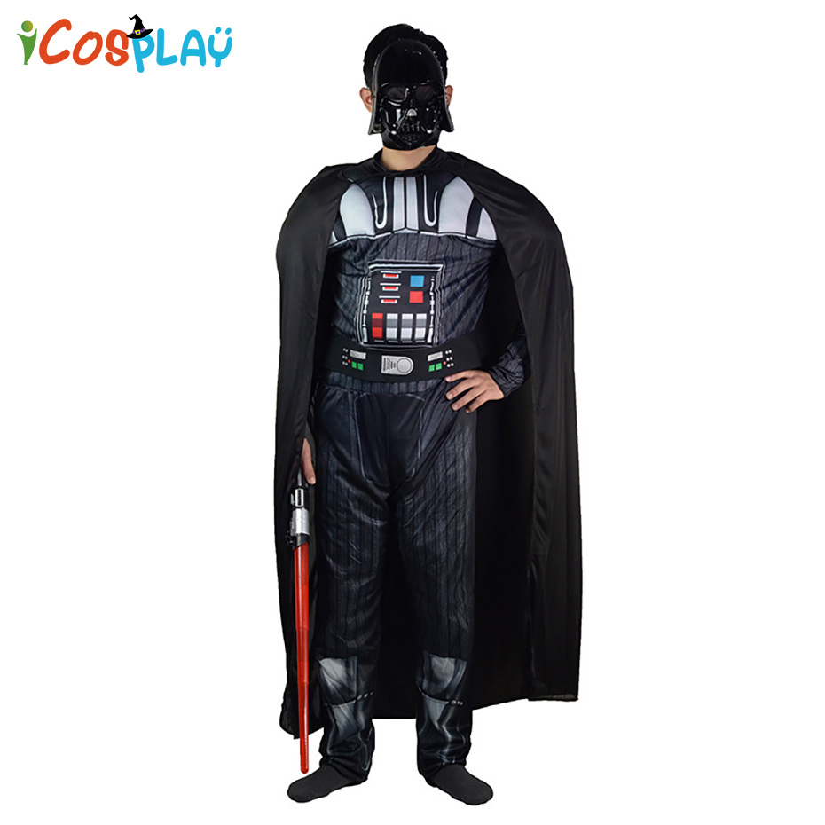 Star Wars Black Warrior Halloween cosplay show costume show adult party annual meeting dress up Halloween Carnival Purim