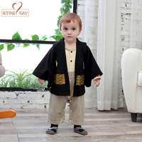 Baby Rompers Sets Kids Japanese Kimono Style Baby Girls Boys Tollder Infant Cotton Kimono Boys Jumpsuit