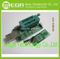 Frete Grátis 1 pcs Ch341a 24 25 reprogramado dvd router bi0 s escova multifuncional programador usb