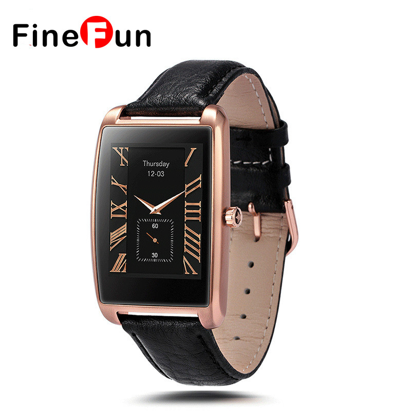 FineFun 2017 NEW LF12 Smart Watch 1.61 inch Curved IPS Touch Screen Wrist Bluetooth Smartwatch For IOS Android Phone #B1057 top brand smart watch camera 1 2 inch tft capacitive touch screen shaking bluetooth heartrate for ios apple phone android phone
