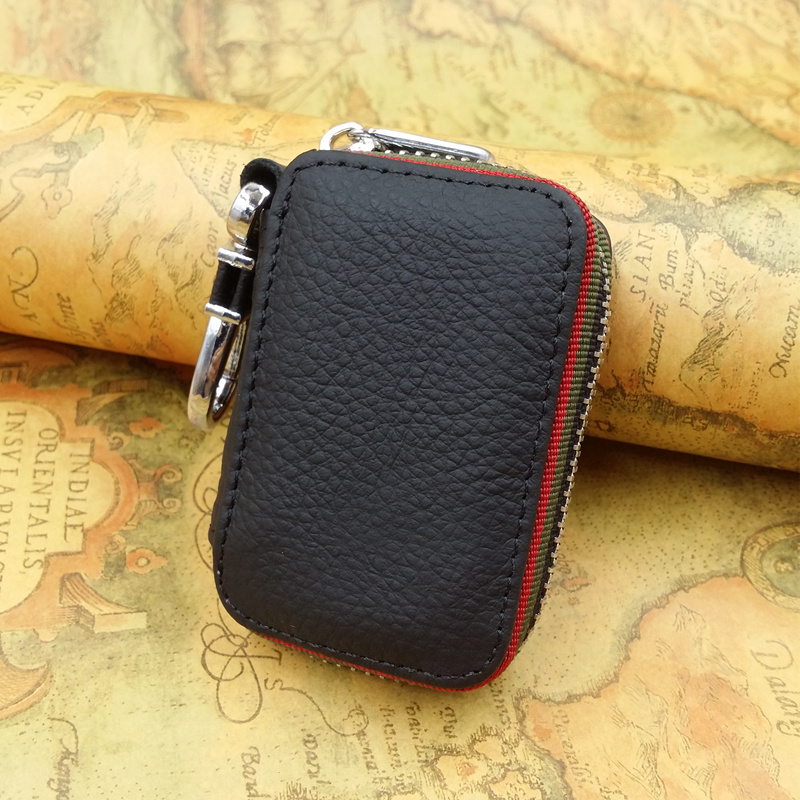 Key Holder For Car Keys Wallet Pouch Bag Genuine Leather Keychain Housekeeper Car Key Case Organizer Key Cover Logos For Free