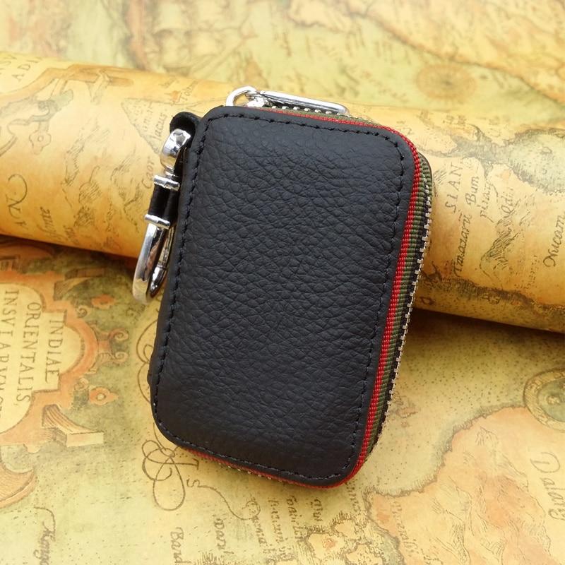 купить Key holder for car keys wallet pouch bag Genuine leather keychain housekeeper car key case organizer Logos for free