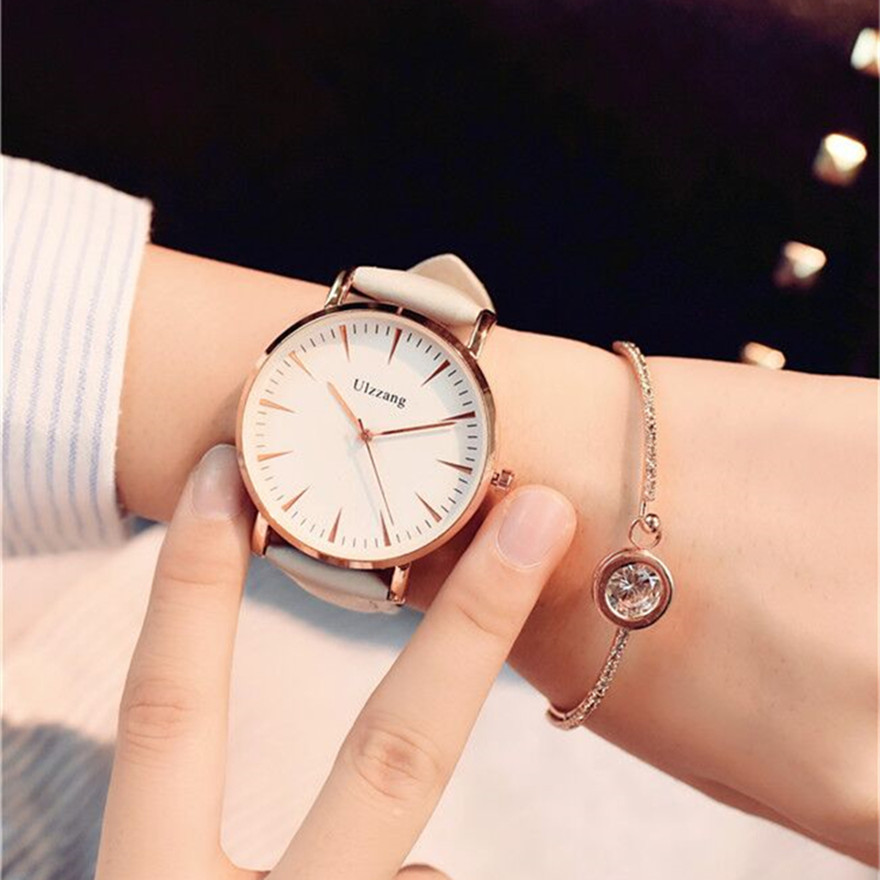 Fashion Quartz Watch 2018 Women's Watches Ladies Simple Big Dial Wrist Watch Female Clock Hodinky Montre Femme Relogio Feminino fashion womens watch girls casual flower dial leather band quartz wrist watches female clocks montre femme relogio feminino d