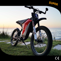 48 V1000w Custom Carbon Fiber High Grade Electric Bicycle Mountain Fighter Bicycle Ultralight Super Dynamic Performance
