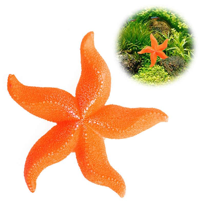 Aquário tanque de peixes paisagem mar artificial coral starfish ornamento decoração