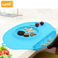 Mambobaby Baby Kid Dishes Bowl Infant Toddler Feeding Plate Tray Food Dish Children Tableware Silicone Suction