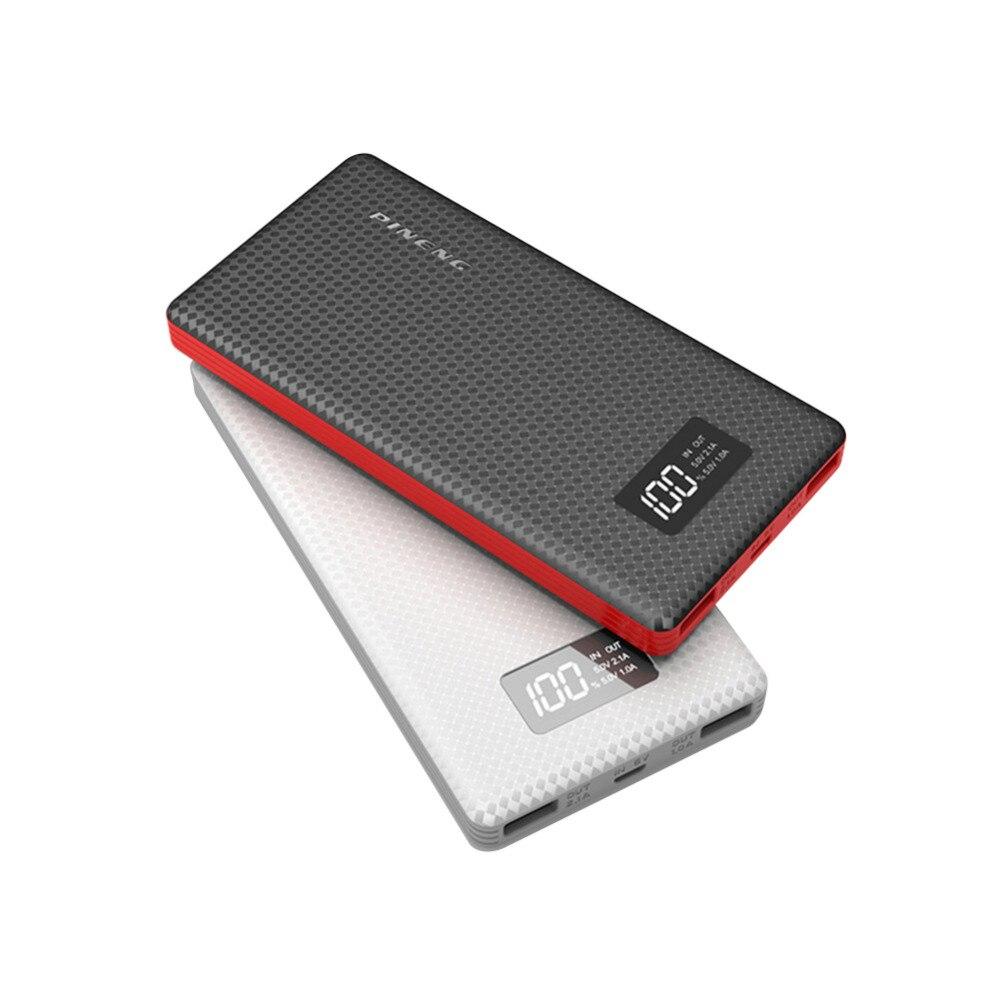 imágenes para Batería externa 10000 mAh Banco Móvil de La Batería Portátil USB Portátil Cargador de batería del Li-Polímero con Indicador LED Para El Smartphone