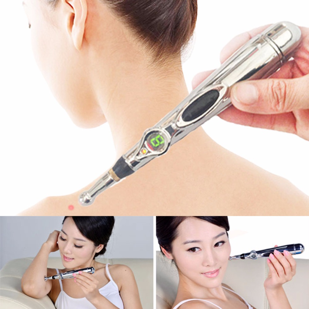 Acupuncture Health Pen Meridian Body Massager Pain Relief Therapy Electronic Hot Selling 2017 hot sale mini electric massager digital pulse therapy muscle full body massager silver
