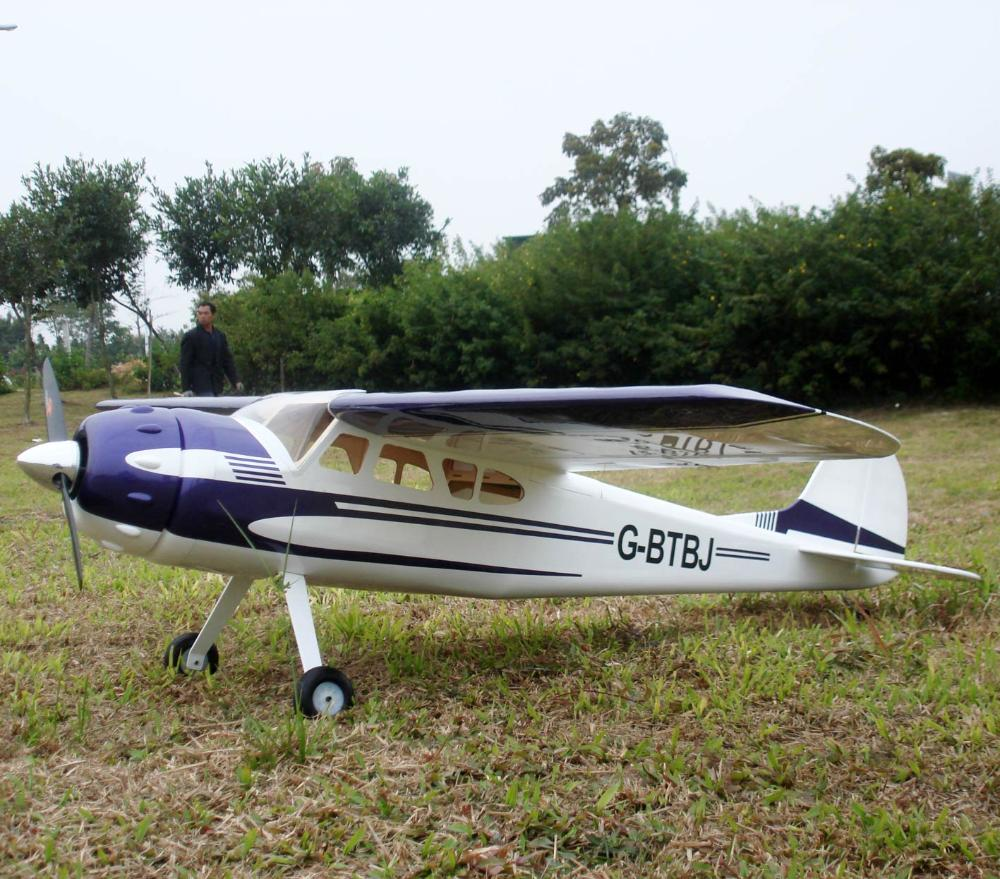 US $305 0 |Cessna 195 wingspan 2286mm (90 in) RC scale model airplane  Gasoline engine powered plane Hot sale aircraft Dropship wholesale on