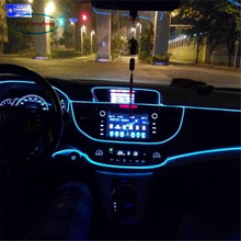 JingXiangFeng Interior Car Lighting EL LED 12V Car Interior Light Accessories Lamp For Cars Light-emitting Diode Fixtures