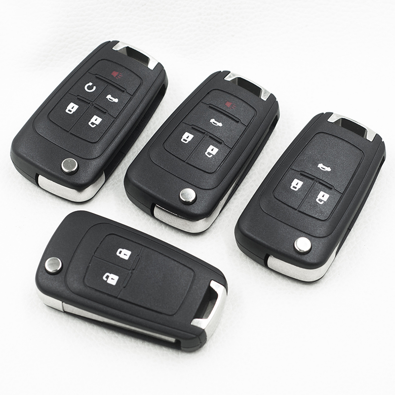 Brand New <font><b>Remote</b></font> <font><b>Key</b></font> Shell For Buick <font><b>Excelle</b></font> GT XT Verano La Crosse Regal Flip Fold <font><b>Key</b></font> Case Shell Replacement With Logo image