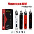 100% Authentic Flowermate AURA Dry Herb Vaporizers Starter Kit 2600mAh Oil Wax Vape Pens 1.7ml Huge Vapor mod elite E Cigarettes