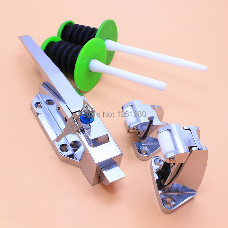 free shipping cam-lift safety latch Freezer handle oven hinge Cold store storage door lock hardware pull part Industrial plant 4 size brass door slide catch lock bolt latch barrel home gate safety hardware