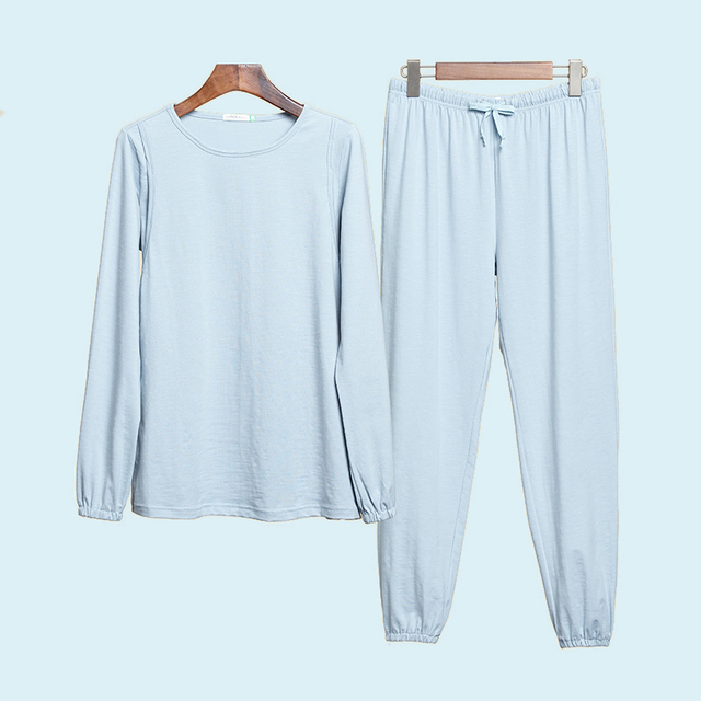 new style 2pcs thin maternity sleepwear and pants long sleeve warm nursing clothes pajamas in winter