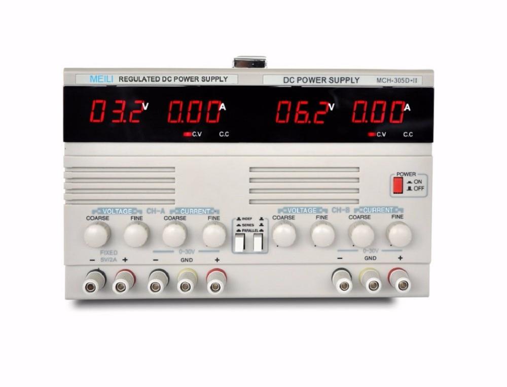 CH-305DII (30V / 5A) Dual Adjustable DC Power Supply Multifunction Digital Display Adjustable