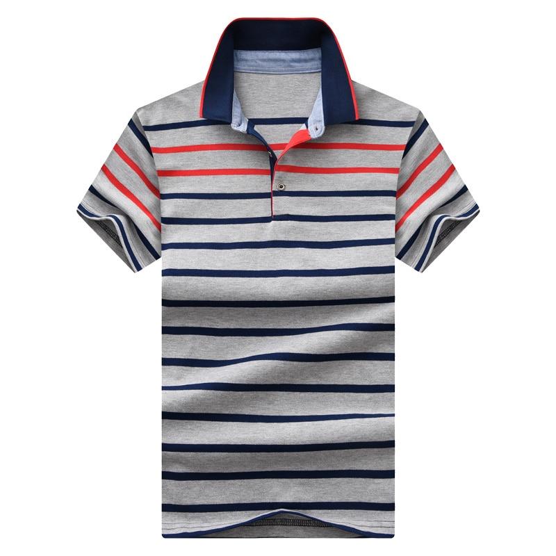 Polo   men's casual contrast color striped short sleeve   polo   men's summer new shirt men's British wind slim cotton   POLO   shirt