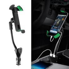 ALLOET Универсальный автомобильный держатель телефона 2.1A Dual USB Порты и разъёмы автомобиля Зарядное устройство для iPhone X 7 8 Автомобильный держатель Зарядное устройство для samsung S9 S8 плюс