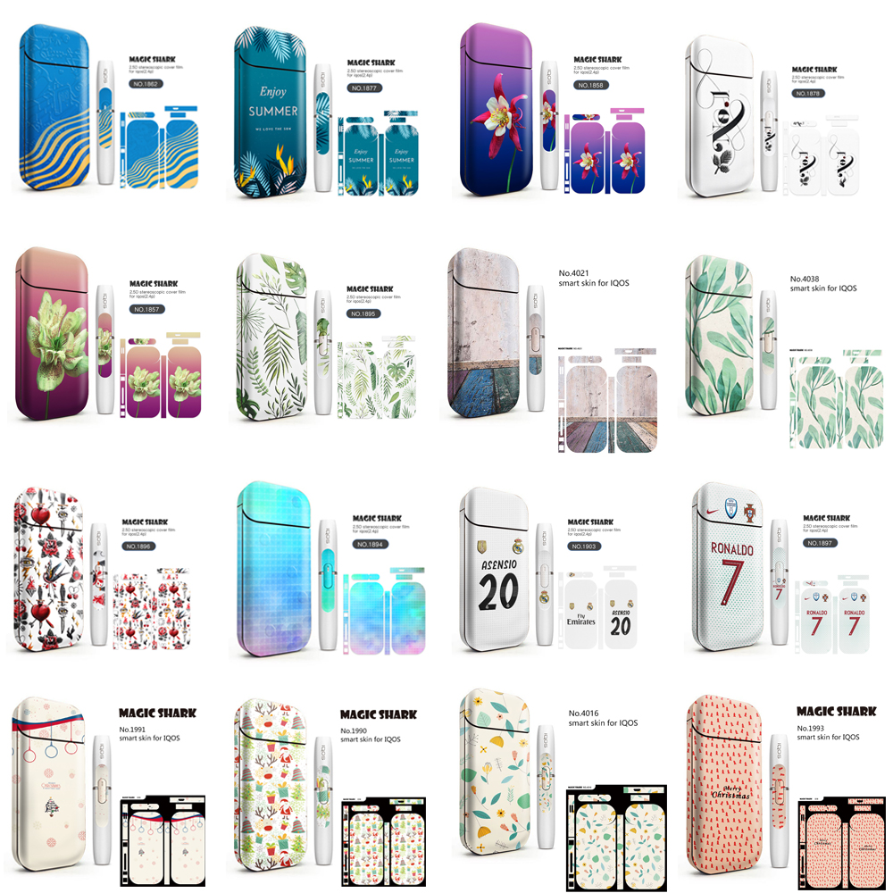 Colorful Sticker Universal PVC Material 3M Printing Protective Skin Decals Stickers For IQOS For IQOS 2.4 Plus