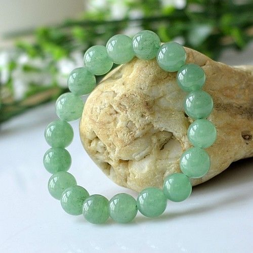 "MOROW בעבודת יד אופנה 100% ירוקים טבעי אוונטורין אבן חרוז עגול לשני המינים נשים גברים תכשיטי צמיד 6 עד 14 מ""מ עבור מתנה חדש"