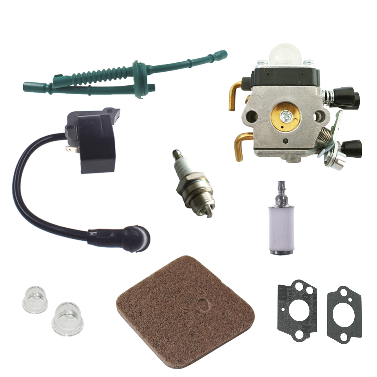 Ignition Coil Carb Spark Plug Fuel Air Filter Kit For STIHL FS38 FS45 FS46 FS55 KM55 Fuel Air Filter цены