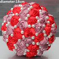 New Arrival Big Discount Bridal Bouquets Satin Rose Holding Wedding Bouquet Half Ball Holding Flowers Accept Custom