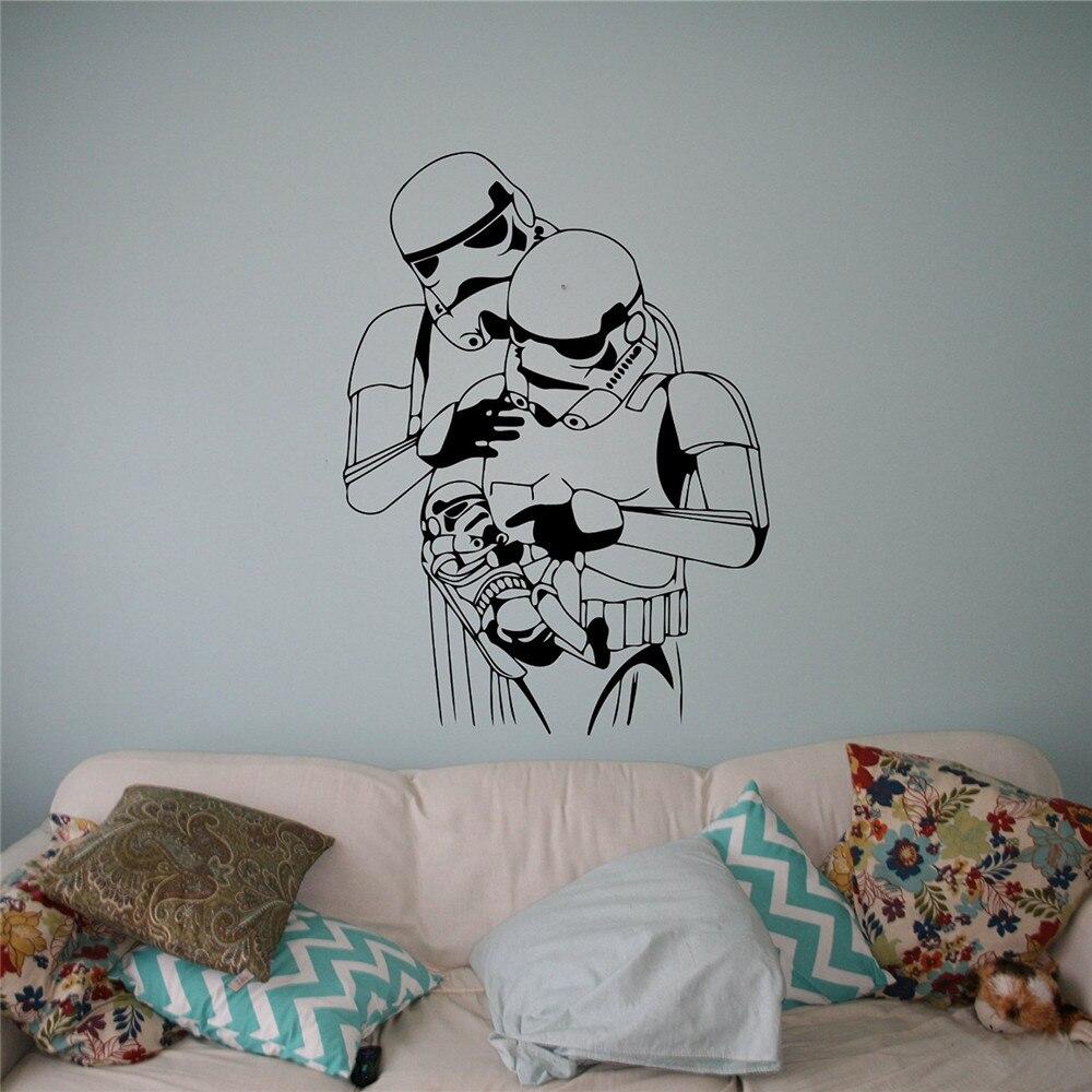 online kaufen gro handel familie aufkleber star wars aus. Black Bedroom Furniture Sets. Home Design Ideas