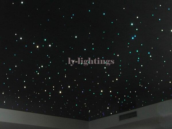 Für dekoration glasfaser licht-kit motor + 100 stücke x 1mm x 2 mt fasern endglow RGB farbwechsel ir-fernbedienung