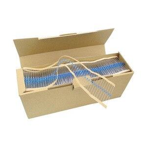 Image 2 - 1/2W 1% 73valuesX20pcs = 1460 pièces 1R ~ 1M Ohm résistance Pack 0.5W Film métallique résistance Kit Torlerance