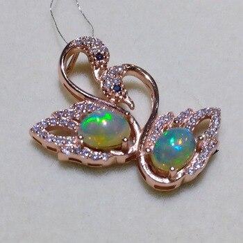 Опаловое кольцо с перьями, 0,5ct, 5х7 мм, натуральный австралийский опал, серебряное кольцо с драгоценными камнями, Твердое Серебро 925 пробы, опал для женщин