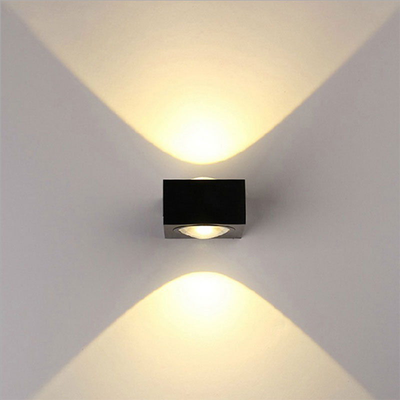 Outdoor waterdichte mode wandlamp high-end aluminium wandkandelaar moderne beugel wandlampen