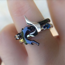 925 Sterling silver Lol League of legends Kindred ring arround the game