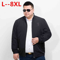 10XL 8XL 6XL 5XL 2018 Мужские дутики светоотражающие куртки и пальто тонкий хлопок Мягкий пилот Повседневное модные Демисезонный для мужчин