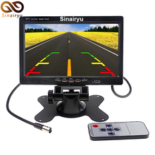 Sinairyu DC 12V 7″ TFT LCD Color Car Bus Truck Monitor Rear View Headrest Display Screen with 2 Channels Video Input for Camera