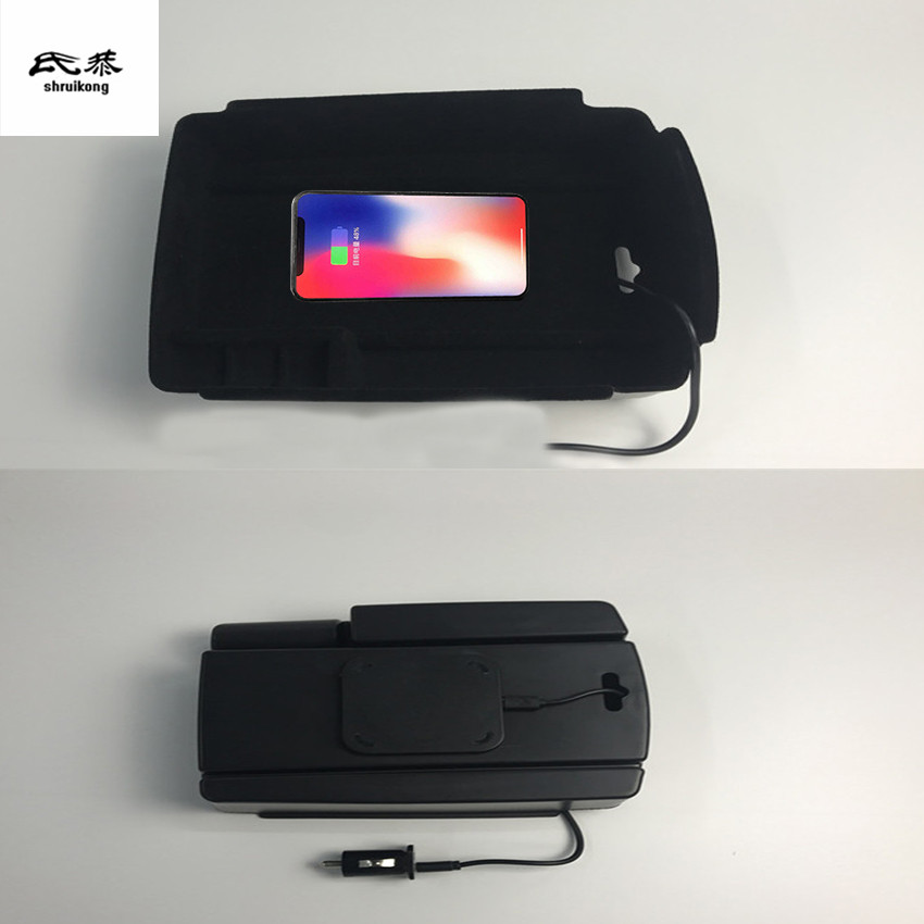 1lot Mobile phone wireless charging Central Armrest storage box for 2016 2017 2018 KIA Sportage MK4 цена