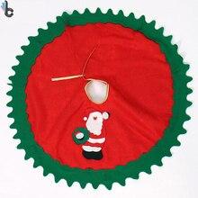 90cm Christmas Tree Skirt Santa Claus Christmas Decoration Xmas Supplies Christmas Tree Decoration