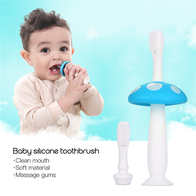 3PCS CkeyiN Baby Toothbrush Silicone Teether Training Tool Dental Care Tooth Brush Baby Teether Infant Teeth Brush Oral Care happy baby teether keys красный