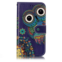 Leather cover for samsung galaxy A5 2017 case A3 2017 lion owl wolf Tiger PU Printing Flip Case for samsung J3 2016 J2 Prime