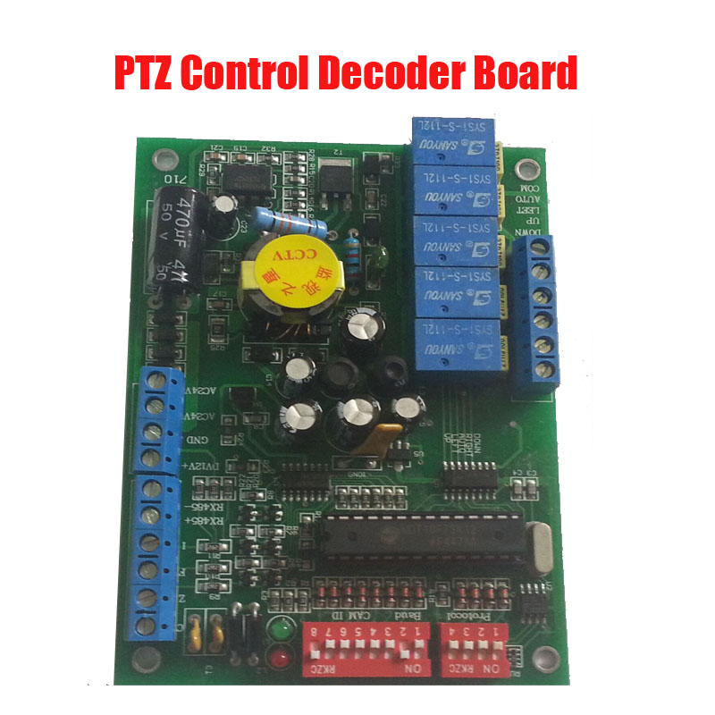 Free shipping Indoor RS485 Decoder Board For CCTV PTZ Camera System feed motor board for roland rs 640