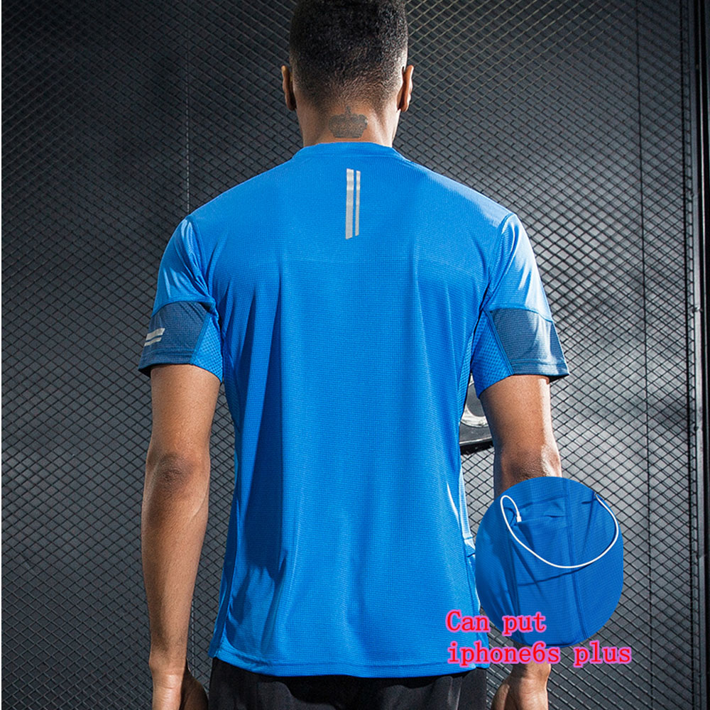 Professional Men's Sport Running Shirt Quick Dry Short Sleeve Basketball Soccer Training T Shirt Men Gym Clothing Sportswear round neck quick dry solid color short sleeve men s t shirt