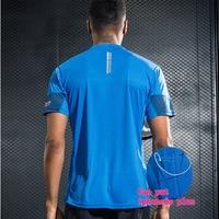 Professionelle männer Sport Laufschuhe Shirt Quick Dry Kurzarm Basketball Fußball Training T Hemd Männer Gym Kleidung Sportswear-in Laufs-T-Shirts aus Sport und Unterhaltung bei