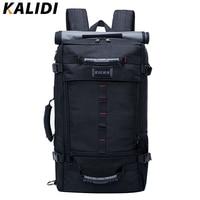 KALIDI Brand Stylish Travel Large Capacity Backpack Male Luggage Shoulder Bag Computer Laptop Backpack Men Functional Backpack