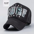 2017 New fashion truckers caps for men fishing nets summer sun hat SURF letter print women's mesh hats outdoor bone baseball cap