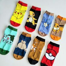 Chaussettes Pokemon longues et courtes Cosplay chaussettes femmes hommes dessin animé Super Marie Pikachu pique-nique Pokemon Sweat-absorbant respirant(China)
