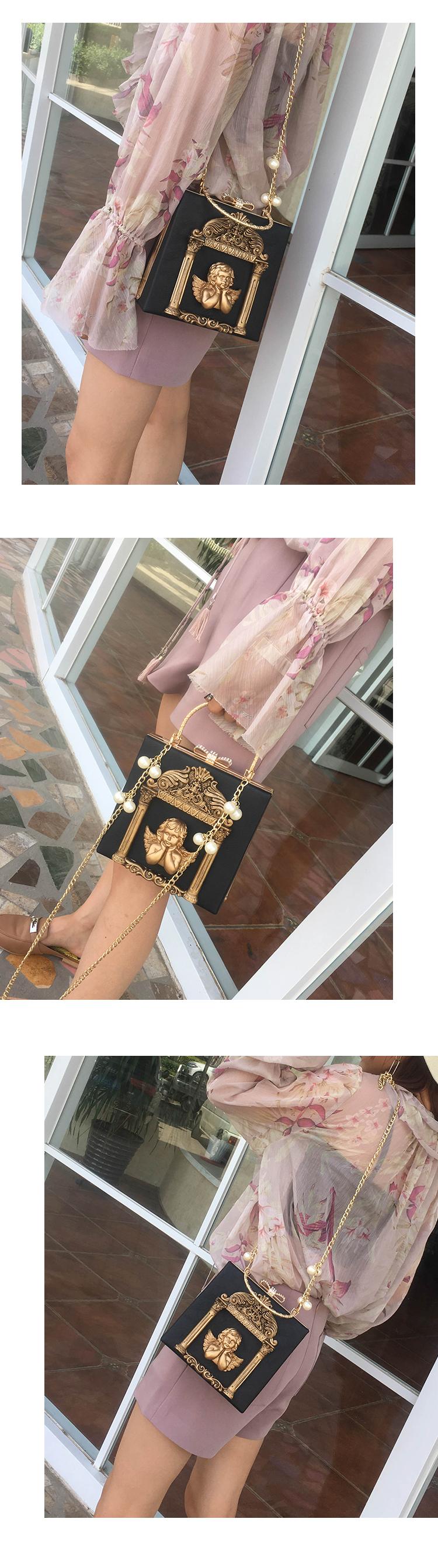2018 NEW Rose 3D Palace Sculpture Frame Bag Luxury Handbags Women Party Bags Designer Lady Cute Shoulder Messenger Bag Sac Tote 27